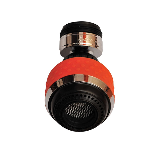 Orange BubbleStream Tap Aerator To Only Use The Water You Need